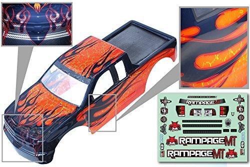 Redcat Racing 1/5 Truck Body, Orange with Black Flames
