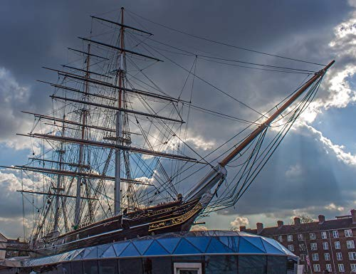 Home Comforts Canvas Print Cutty Sark Sailing Ship London Historic Vessel Vivid Imagery Stretched Canvas 32 x 24