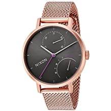 Nixon Women's 'Clutch' Quartz Stainless Steel Casual Watch, Color:Rose Gold-Toned (Model: A11662618-00)