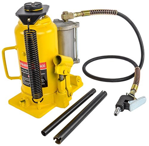 JEGS Performance Products 79009 Bottle Jack Air Assist Capacity: 20 Ton Lift Hei (Air Assist Ton)