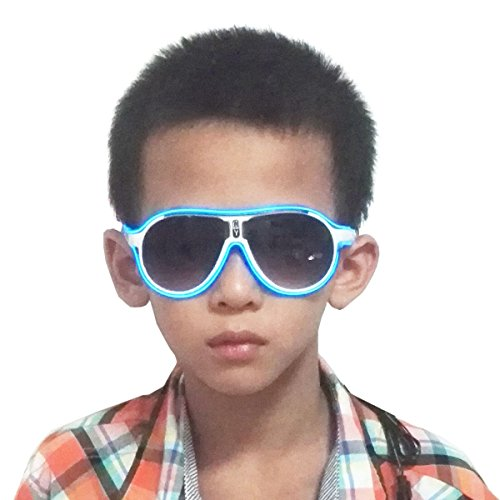 Light up EL wire Kids Sunglasses LED Flashing Rave Party Children Glasses For Party and Festivals