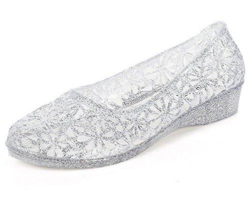 Schuhe Strandschuhe Silber Beach Vokamara Glitter Plastik Damen Wasserschuhe XwqZtanB