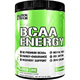 Evlution Nutrition BCAA Energy - High Performance, Energizing Amino Acid Supplement for Muscle Building, Recovery, and Endurance (Lemon Lime, 30 Servings)