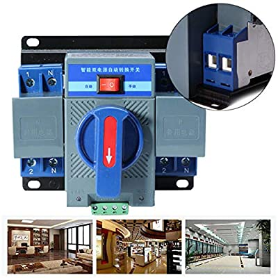 K&A Company 63A 2P 50HZ/60HZ Dual Power Automatic Transfer Switch 150×137×118mm