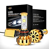 Auxbeam 9006 / HB4 Headlight Bulbs F-16 Series with 2 Pcs of LED Headlight Conversion Kit 60W 6000lm CREE LED Chips Built-in CANBus