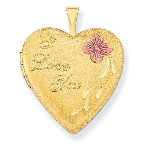 ICE CARATS 1/20 Gold Filled 20mm Enameled I Love You Heart Photo Pendant Charm Locket Chain Necklace That Holds Pictures W/chain Fashion Jewelry Gift Set For Women Heart by ICE CARATS