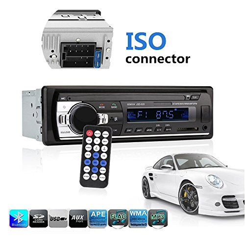 Ewalite Car Stereo with Bluetooth, Universal in-Dash Single Din Car Radio Receiver MP3 Player/USB / SD Card/AUX / FM Radio with Remote Control