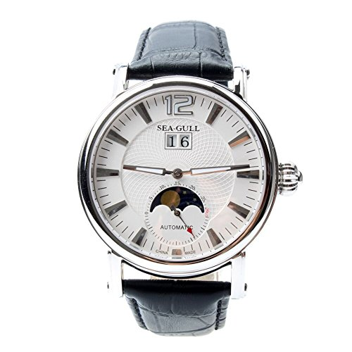 Seagull Grande Date Moon Phase Guilloche Automatic Men's Watch Sea-gull M308S (Automatic Moon Phase Watch)