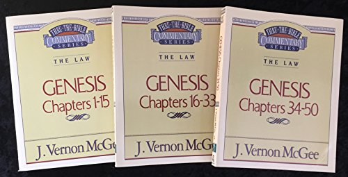 Genesis Volumes I, II & III (Messages given on the 5 Year of Thru The Bible Radio Network) (J Vernon Mcgee 5 Year Bible Study)