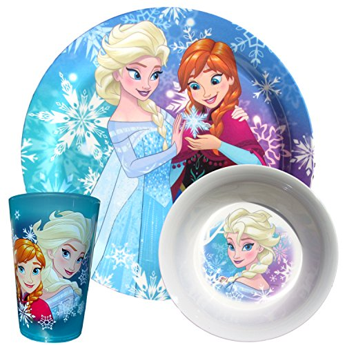s Dinnerware (Disney Frozen 3 pc Set) (Baby Meal Time Set)