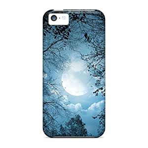 LJF phone case New Tpu Hard Case Premium iphone 4/4s Skin Case Cover(beauty Of The Moon)