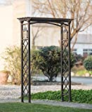 Sunjoy Metal Arbor with Lanterns