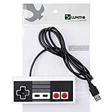 Luxmo Super Classic Nintendo USB NES Game Controller for Windows PC / MAC / Raspberry Pi Retro Pi ( 2 PACKS IN ONE PACKAGE)