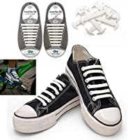 Koollaces No Tie Elastic Slip on Dress Shoelaces for men and women, Silicone Shoelaces Patented Anchor Type