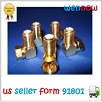 WennoW Lot 5 of Gold Plated F Type Right Angle Female to Male Adapter