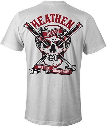 Heathen Death Before Dishonor T-Shirt (Large, White)