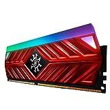 XPG Spectrix D41 DDR4 RGB 3000MHz 16GB (2x8GB) 288-Pin PC4-24000 Desktop U-DIMM Memory Retail Kit Red (AX4U300038G16-DR41)