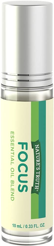 Nature's Truth Essential Oil Roll-On Blend, Focus, 0.33 Fluid Ounce