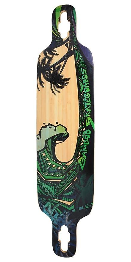 Amazon.com: Bamboo – Longboard, color individual Tip – Verde ...