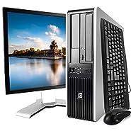 HP Elite 7900 Desktop PC Package, Intel Core 2 Duo Processor, 8GB RAM, 500GB Hard Drive, DVD-RW, Wi-Fi, Windows 10, 19in LCD Monitor (Renewed)