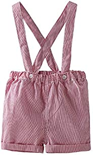 JiAmy Baby Suspender Shorts Dungarees Boys Girls Adjustable Stripe Bib Overall