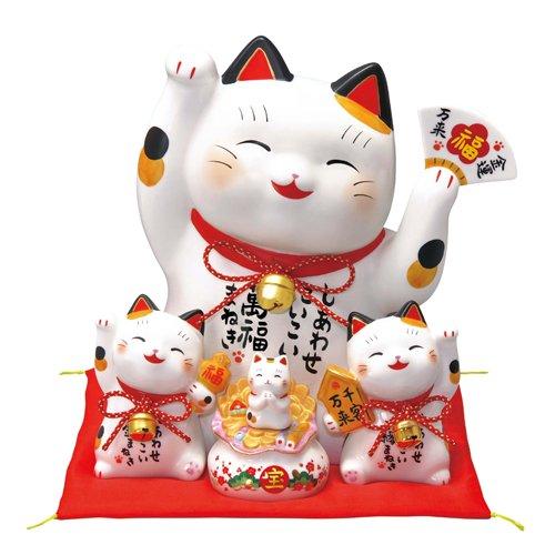 招き猫 彩絵お金まねき猫(萬福まねき)(貯金箱) [高さ28cm] B009PFUAIS