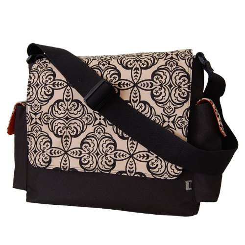 OiOi Moroccan Sand (Black) Messenger Diaper Bag (Japan Import)
