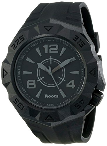 Roots Men's 1R-AT500BA1B Tusk Analog Display Analog Quartz Black Watch