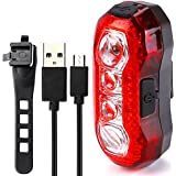 Meiyiu Bicycle Tail Light USB Charging Warning Lamp Waterproof Super Bright Light for Night Warning