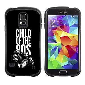 LASTONE PHONE CASE / Suave Silicona Caso Carcasa de Caucho Funda para Samsung Galaxy S5 SM-G900 / Child Of the 80s Eighties