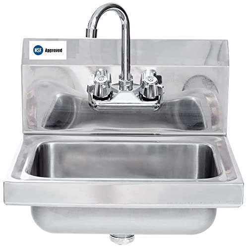 Commercial Stainless Steel Wall-Mount Hand Sink 12 x 12 – NSF