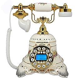 European Ceramic Corded phone-Vintage Retro Home Desk telephone
