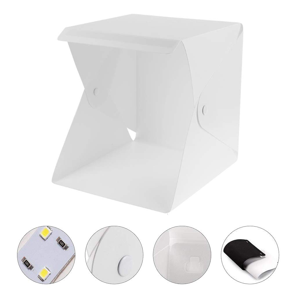 Amazon.com: Kicpot Light Box,Portable Photo Studio 9.2x9.2 Inch Small Folding Light Box Photography Studio Box Shooting Tent Kit (2x20 LED Lights 2 Colors ...
