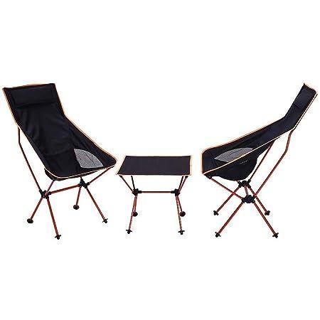 Gaorb Mesa y sillas Plegables para Acampar al Aire Libre, Mesa y ...