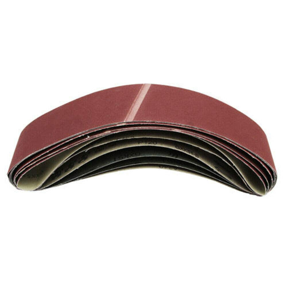 para lijadora de banda//correas abrasivas grano 40-1000 5 bandas de lija 10 x 330//13 x 457//20 x 520//100 x 915//50 x 686//75 x 533//75 x 457 mm