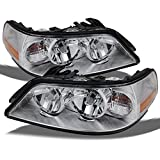 Lincoln Town Car Halogen Type Replacement Chrome Headlights Driver/Passenger Head Lamps Pair New