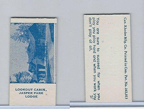 - V Card, Rhodes Mfg, Scenes, 1940's, Lookout Cabin, Jasper Park