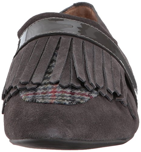 G.H. Bass Co. Women's Harlow Loafer, Black, Varies Charcoal