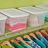 Sterilite 20-Quart White Storage Box, Case of 6