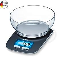 Beurer KS 25 keukenweegschaal met 1,2 l weegkom, digitale keukenweegschaal met tarra-telescoopfunctie en 3 kg draagkracht