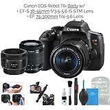 Canon EOS Rebel T6i Digital SLR Camera (Wifi Enabled) w/EF-S 18-55mm f/3.5-5.6 IS STM Lens + EF 50mm f/1.8 STM + DigitalAndMore Deluxe Camera Cleaning Solution