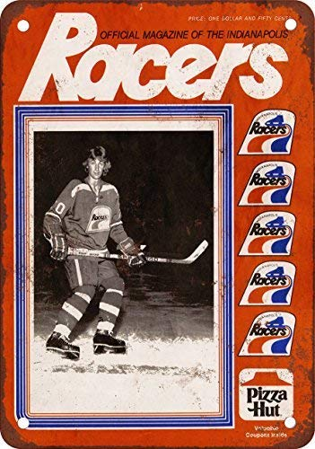 (NGFD 1978 Indianapolis Racers Gretzky Vintage Look Reproduction Metal Tin Sign 8x12 inch)