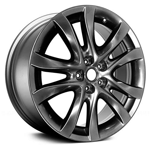 Alloy Wheel 5 Double Spoke - Replacement 19X7.5 Alloy Wheel 5 Double Spokes Smoked HyperSilver painted Fits Mazda 6