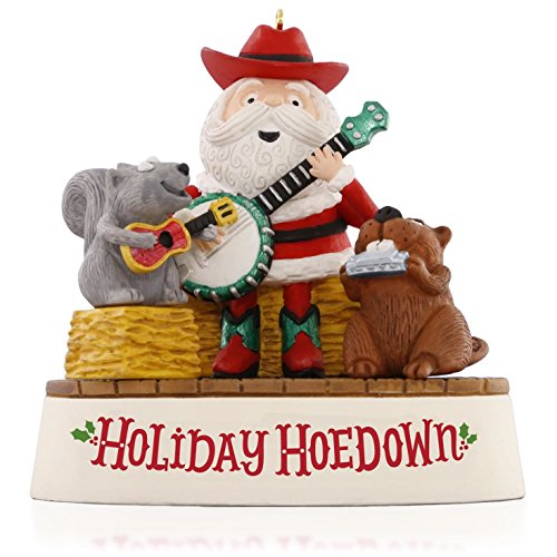 Holiday Hoedown Santa and Friends Musical Jingle Bells Musical Ornament 2015 Hallmark Jingle Bell Ornament Collection