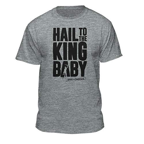 Army of Darkness Hail to The King Baby Adult Horror Evil Dead T-Shirt (XX-Large) Black