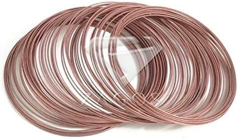 Amazon.com: Laliva 100 Loops 0.6mm Memory Beading Steel Wire for DIY Jewelry Findings Bangle Bracelet Making TL0031 - (Color: Antique Copper)