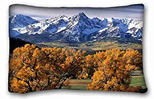Soft Pillow Case Cover Nature Custom Zippered Pillow Case 20x30 inches(one sides) from Surprise you suitable for California King-bed