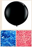 American Balloon Company - Huge Gender Reveal Balloon - Plus Pink and Blue Confetti
