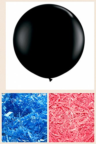 Gr Confetti (American Balloon Company - Huge Gender Reveal Balloon - Plus Pink and Blue Confetti)