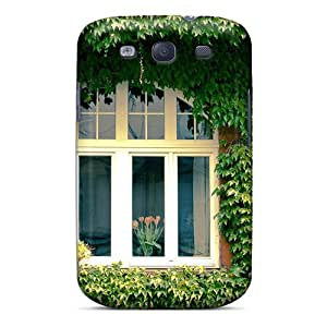 Faddish Phone Green Window Case For Galaxy S3 / Perfect Case Cover